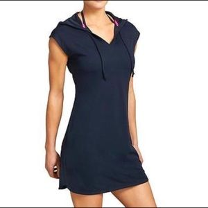 Athleta Women's Navy Wick It Hooded Cover-Up